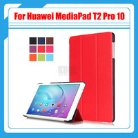 For Huawei MediaPad T2 10 0 Pro Leather Bag Cover Tri Fold Stand Leather Smart Case