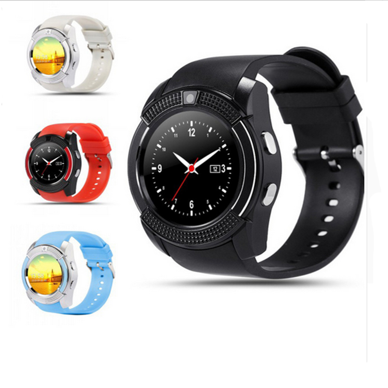 Newest V8 Bluetooth font b SmartWatch b font Touch Screen For samsung Support TF SIM Card