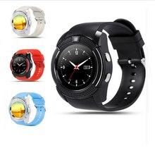 Neueste v8 bluetooth smartwatch touchscreen für samsung unterstützung tf sim-karte with0.3m kamera pk dz09 a9 für huawei xiaomi Android