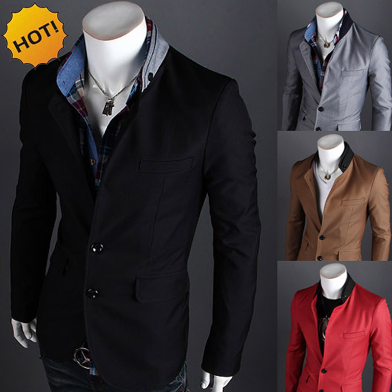 New 2020 autumn winter Casual Dress Evening dress brand-clothing blazer Mens Two buckle masculino suit men Slim Fit coat