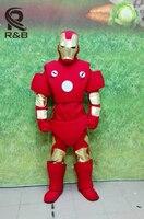 Высокое качество карнавала Железный человек Маскоты взрослый костюм новый Железный человек Маскоты костюм нарядное платье Костюмы Halloween