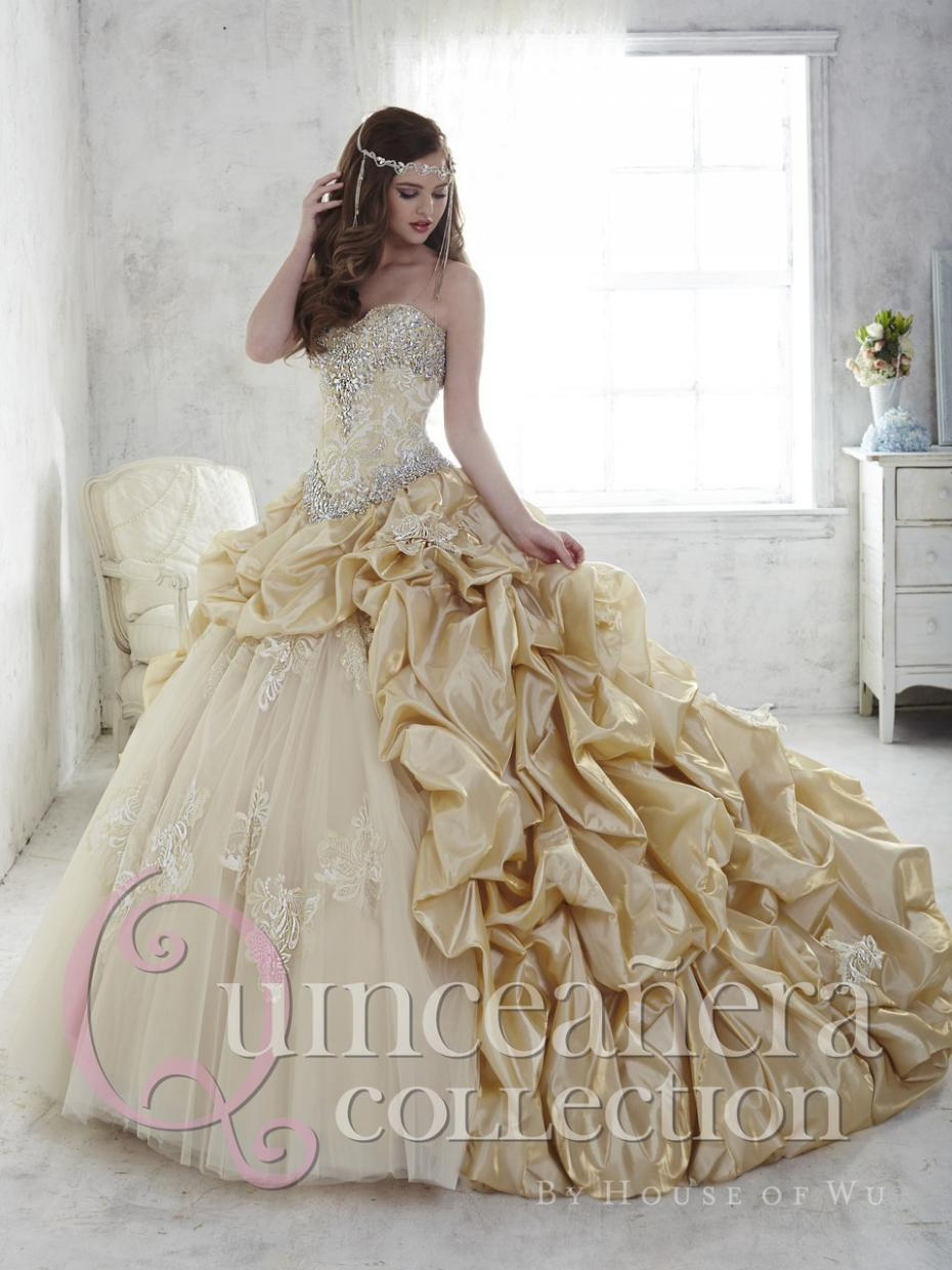 Popular Quinceanera Dresses White and Gold-Buy Cheap Quinceanera ...
