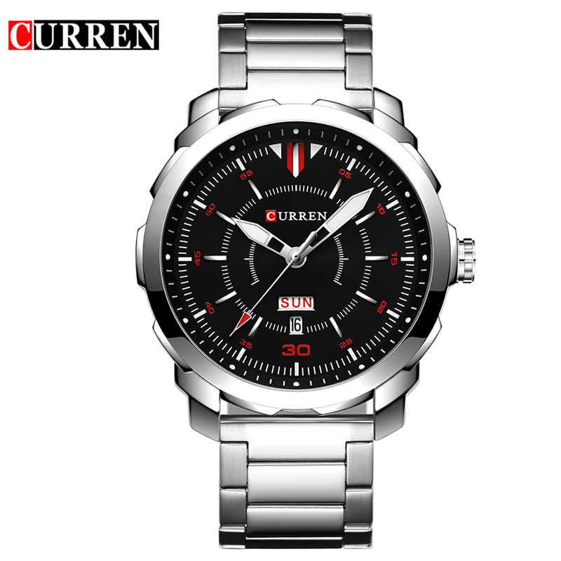 Relogio Masculino Date Mens Fashion Casual Quartz Watch Curren Men Watches Top Brand Luxury Military Sport Male Clock Wristwatch curren 8023 mens watches top brand luxury stainless steel quartz men watch military sport clock man wristwatch relogio masculino