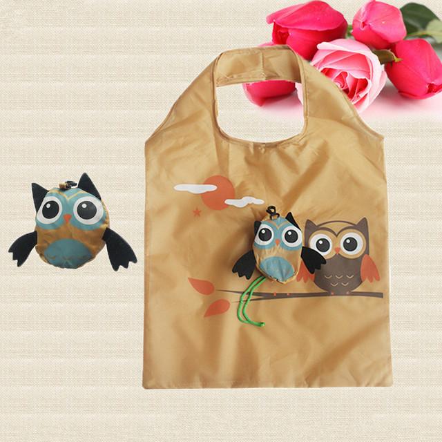 Reusable Owl Printed Folding Shopping Bag