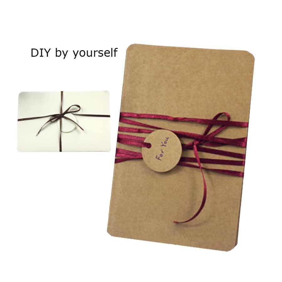 50 unids/lote Vintage blanco serie marrón blanco negro papel Kraft estudiantes de Post Tarjeta de tarjeta de felicitación de historia regalo de felicitación tarjeta de