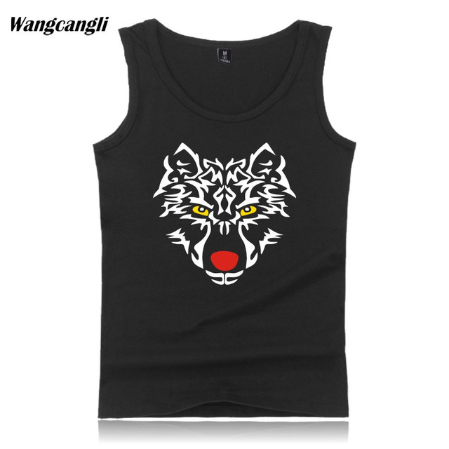 cec045a510ee8 TIGER Printed cotton Gym Tank Top Men Brand Bodybuilding Sleeveless Muscle  shirt singlet Fitness Tank Tops Summer vest 2019 New