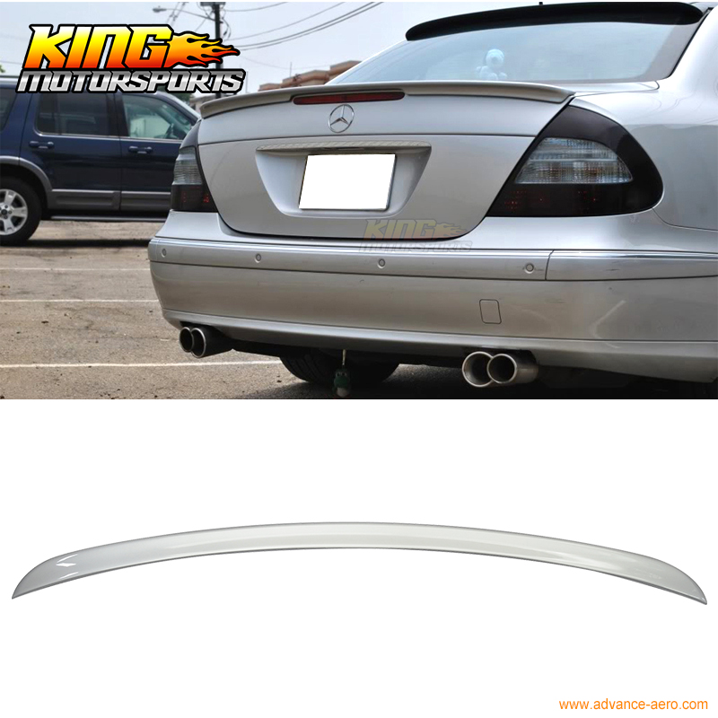 For 2002-2008 Benz E-Class W211 4Dr Sedan AMG #744 775 Painted Trunk Spoiler chiaro паула 9 411012503