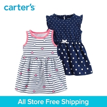 Carter's 2-Pack baby children kids clothing Girl Summer Jersey Allover hearts & polka dots Dresses 121I175