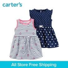 Carter's 2-Pack baby children kids clothing Girl Summer Jersey Allover hearts & polka dots Dresses 121I175