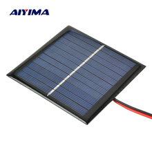 AIYIMA 5 5V 1W Solar Panel DIY Photovoltaic Solar Cell Car Lamp Light Sun Power sunpower