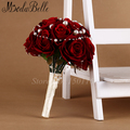 Bridesmaid red flower wedding accessories bridal bouquets artificial bruidsboeket fleurs bouquet mariage