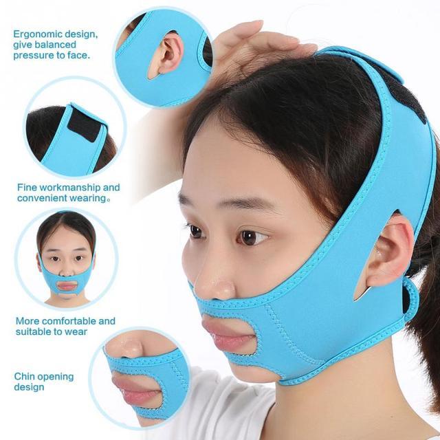 顔痩身マスクスリムリフト締め包帯二重あご除去減量ベルト顔痩身包帯フェイスベルト