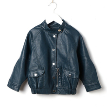 Kids Leather Jackets Brand Advanced PU Imitation Coat Fashion  Jacket Girls Loose Soft Unique Outwear (3-12Yrs)