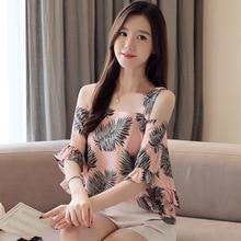 New Style Fashion Women A-word Korean Type Loose Bat Sleeve Chiffon Shirts Blouses