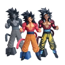 34cm Dragon Ball Super Saiyan 4 GT Son Goku Action Figure Toy Dragon Ball Display Collection Doll Toys Children Birthday Jouet цена