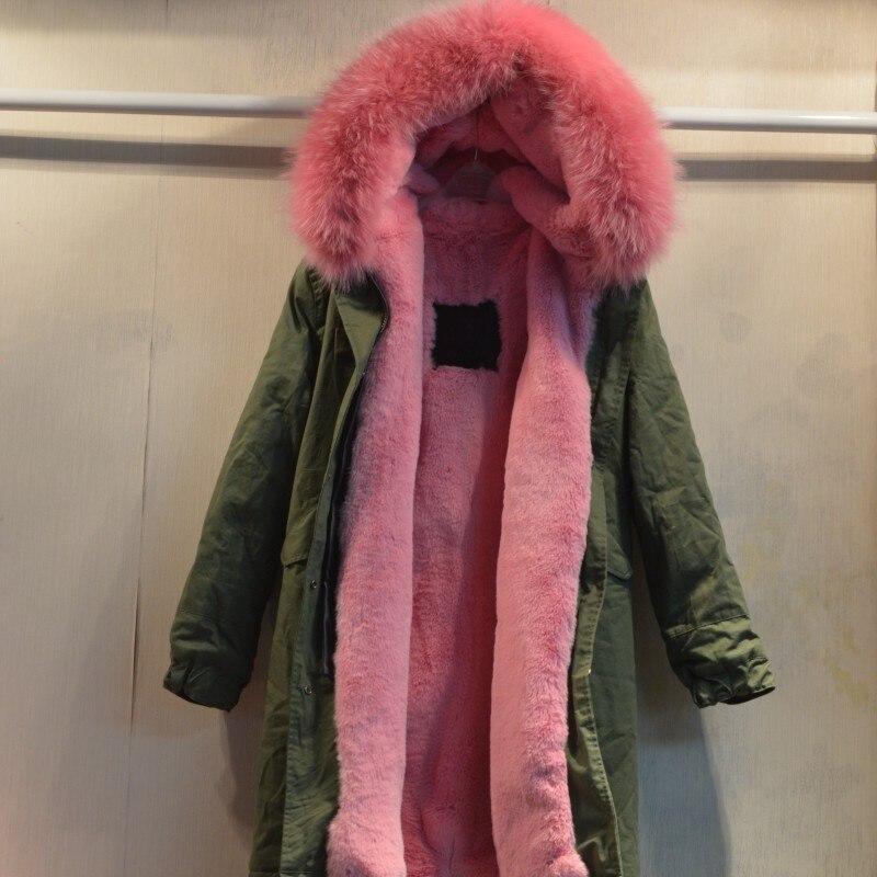 Sexy pink long style women warm coat super start design female jacket