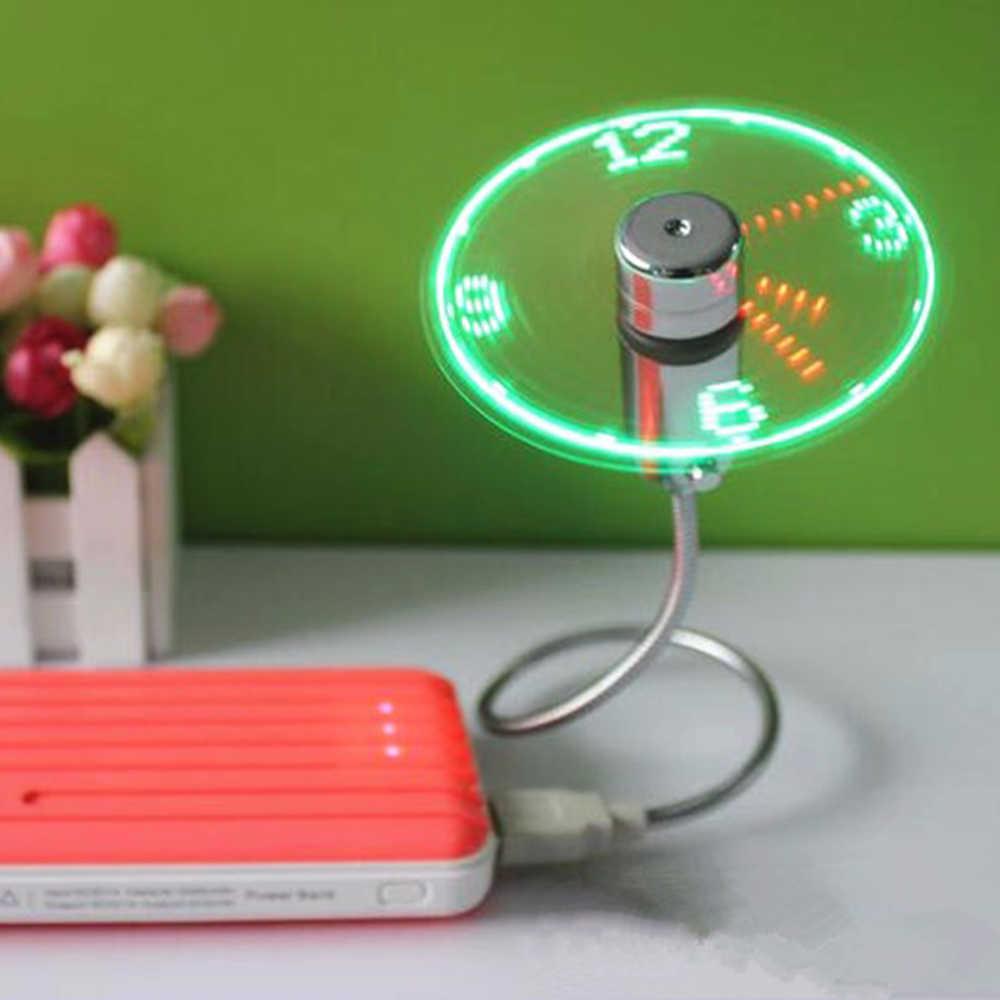 UF-211-07 мини USB портативный дисплей в реальном времени Вентилятор Кулер гаджеты гибкие на гибкой ножке, светодиодная часы прохладные для ноутбука ноутбук ручной вентилятор