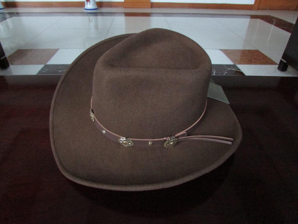 Image 4 - New 100% Woolen Cap Mens Waterproof Wrinkle free Equestrian Hat Adult Wide Brim Cowboy Hat Large brimmed Gentleman Cap B 8133Mens Fedoras   -