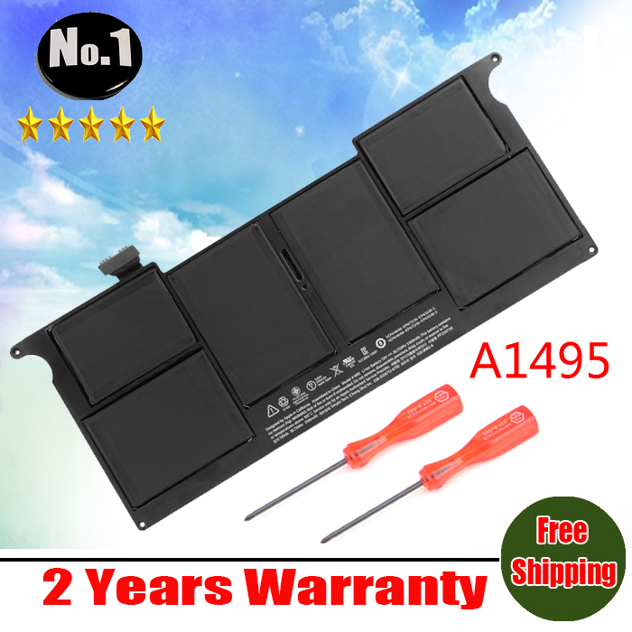 Wholesale new Laptop Battery For FOR Apple MacBook Air 11 A1465 A1495 MD711LL A 2013 MD711