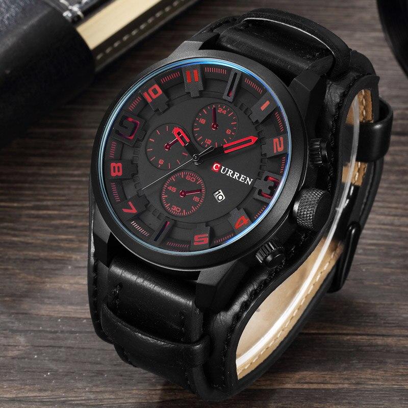 Prix pour CURREN De Luxe Top Marque Hommes de Sport Montres Mode Casual Quartz-Montre Steampunk Hommes Militaire Montre-Bracelet Mâle Relogio horloge