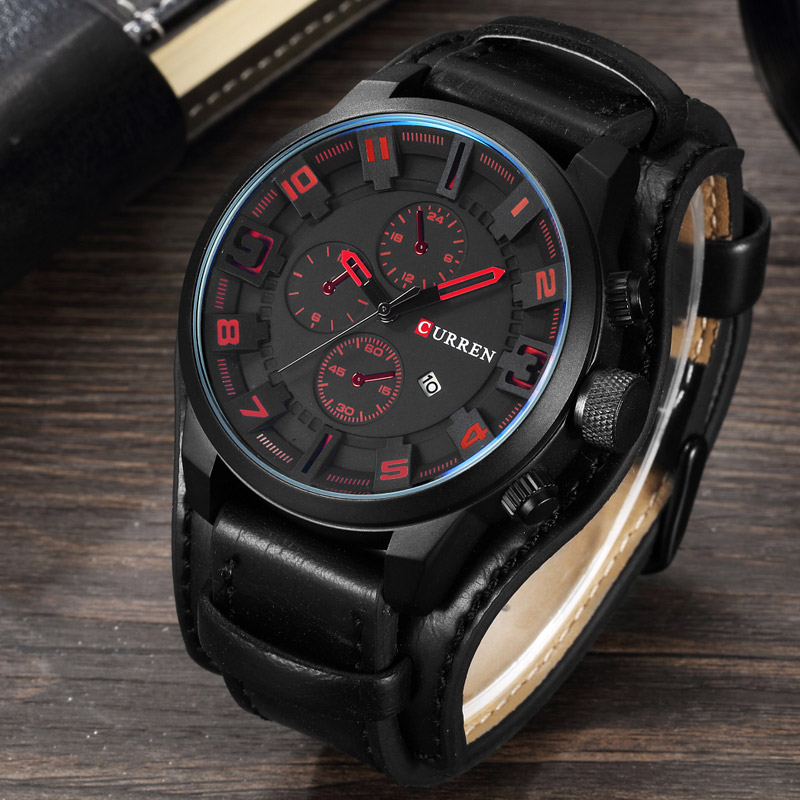Buy curren luxury top brand men 39 s sports watches fashion casual quartz watch for Curren watches