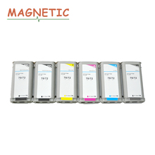 6pcs Magnetic Compatible Ink Cartridge for HP70 for HP72 70 72 For HP Designjet T610 T770 T1100 T1120 T1200 T1300 T2300 Printer