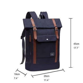 KAUKKO Leisure Backpacks for Laptop 15 Inches, Backpack Man Woman, Backpack Roll Top Travel Backpack