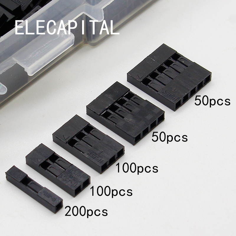500pcs Dupont sets Kit with box 2.54mm Pitch 2P 3P 4P 5Pin Dupont Housing Plastic Shell Terminal Jumper Wire Connector set double row dupont kit 1p 2 2 2 3 2 4 2 5 2 6 2 7 2 8 2 9 2 10pin housing plastic shell terminal jumper wire connector set