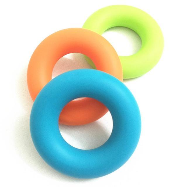 MYSBIKER renforcement de la poignée, anneau de lavant bras exercices de main pince de presse agrumes en Silicone pour outil dentraînement de renforcement musculaire 3 pack