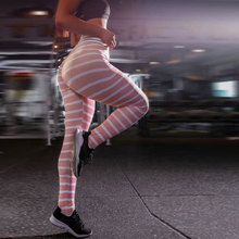 ZOGAA Cross-border Womens High Waist Stripe Stitching Hip Slim women Pants Sports Bottoming Pencil