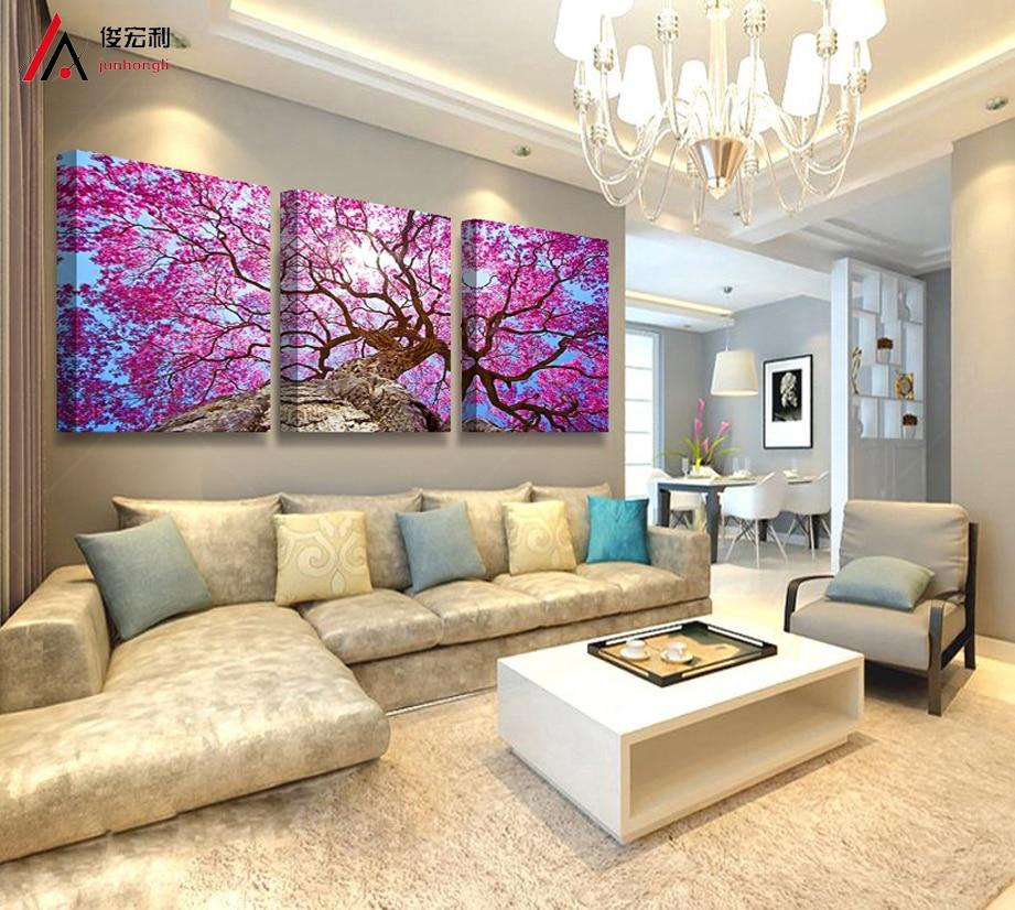 Nordic Beautiful Cherry Trees Oil Oil Painting Նկար - Տնային դեկոր - Լուսանկար 2