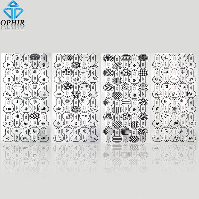 OPHIR 120x Metallic Airbrush Nagel Schablone Geometrische Muster ...
