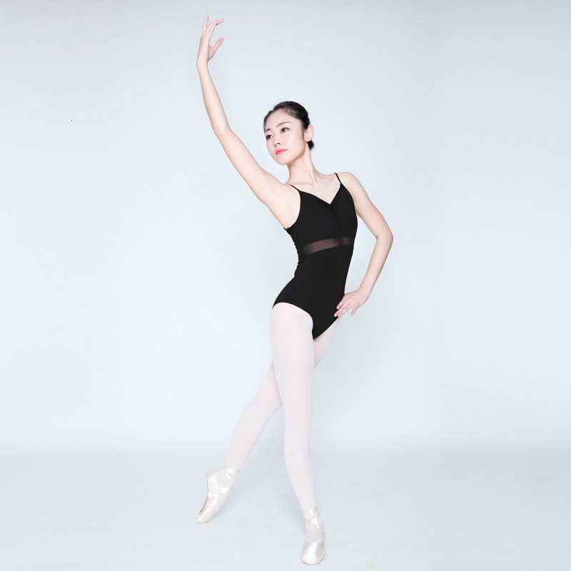 Stretch Mesh Strap Adult Female Ballet Leotards Black Gymnastics Leotard for Dance,ballerina Camisole Ballet Bodysuit Women 89