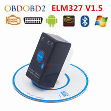 New Brand ELM327 V1.5 ELM 327 Bluetooth Scanner Mini With Power Switch OBD2 Car Code Diagnostic Tool Support J1850
