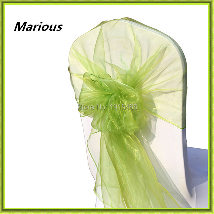 Organza chair hood marious chair hood wedding decoration for sale free shipping