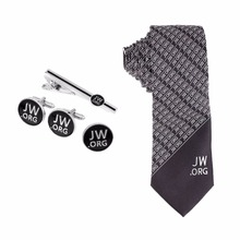 Jw.org Men Necktie and Tie Clip and Cuff links and Pin Set