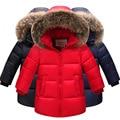 Boys New winter Warm Duck Down & Parkas Girls thickening Down Jackets & Coats Children Casual nagymaros collar jacket