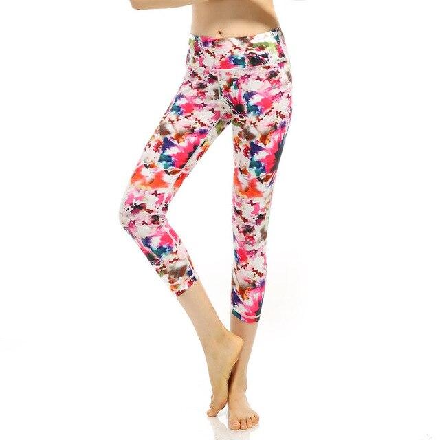 2016 New Fashion Casual Printed Milk Leggings Pants Female Elastic Plaid Graffiti Trousers Women High Waist Sporting Leggings