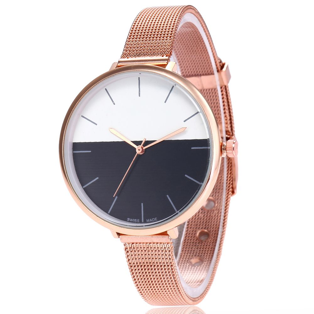 2020 Brand Fashion Colorful Dial Rose Gold  Mesh Stainless Steel Quartz Watch Women Wristwatches Reloj Mujer Relogio Feminino