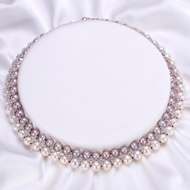 ZHBORUINI Mode Halskette Perlenschmuck Natürliche Süßwasserperlen - Edlen Schmuck - Foto 2