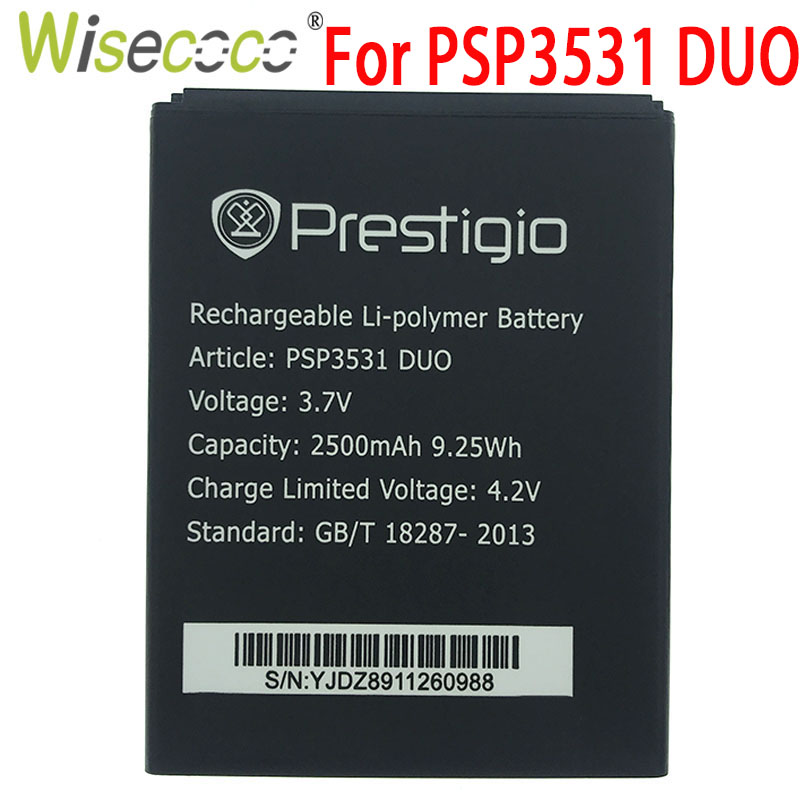 WISECOCO 2019 New 2500mAh Battery For Prestigio Muze D3 PSP3530 DUO E3 PSP3531 DUO Muze A7 PSP7530 PSP3532 Mobile phone image