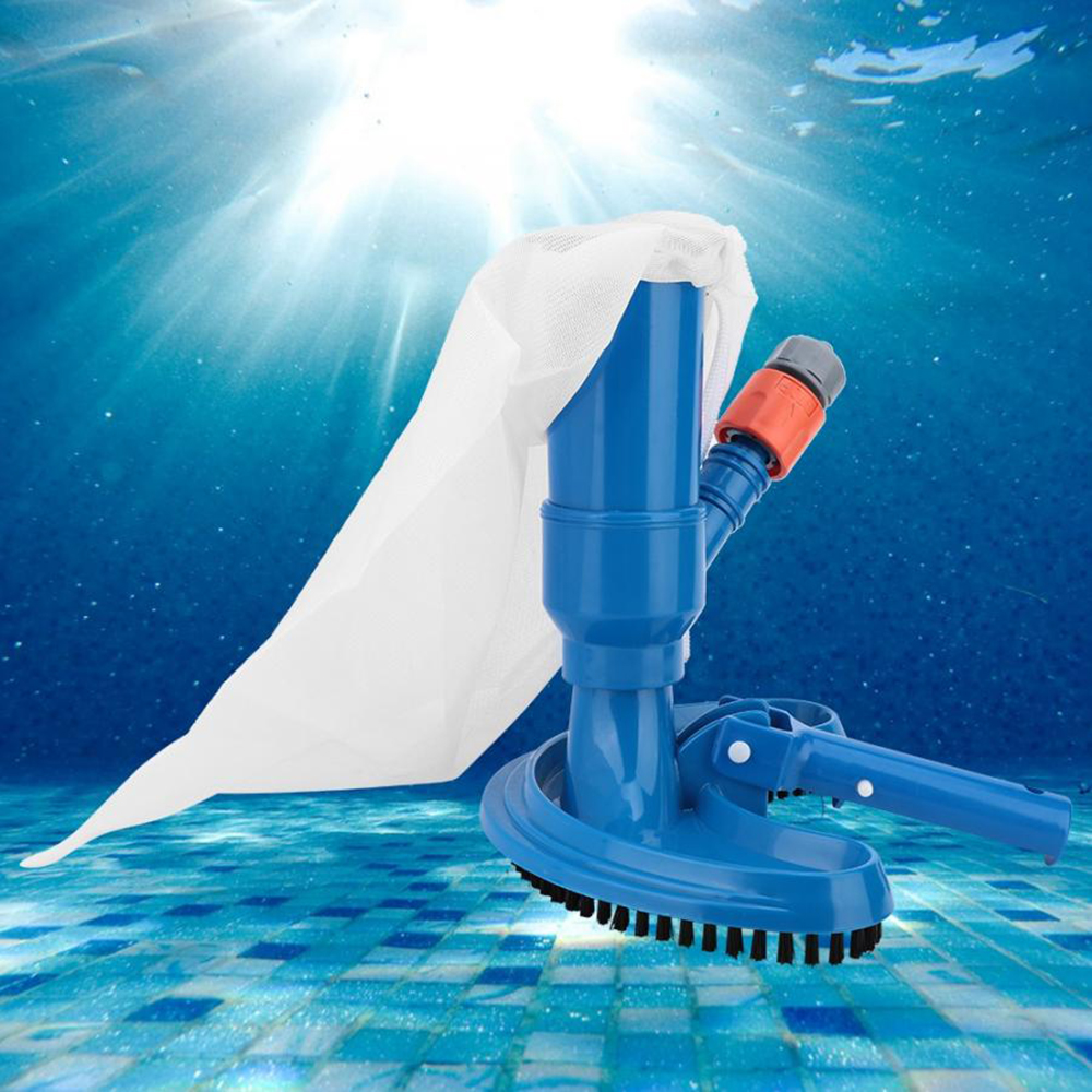 New Portable Swimming Pool Cleaner Pond Fountain Vacuum Brush Cleaner Cleaning Tool Outdoor Hot Tubs Accessories Garden Supplie title=