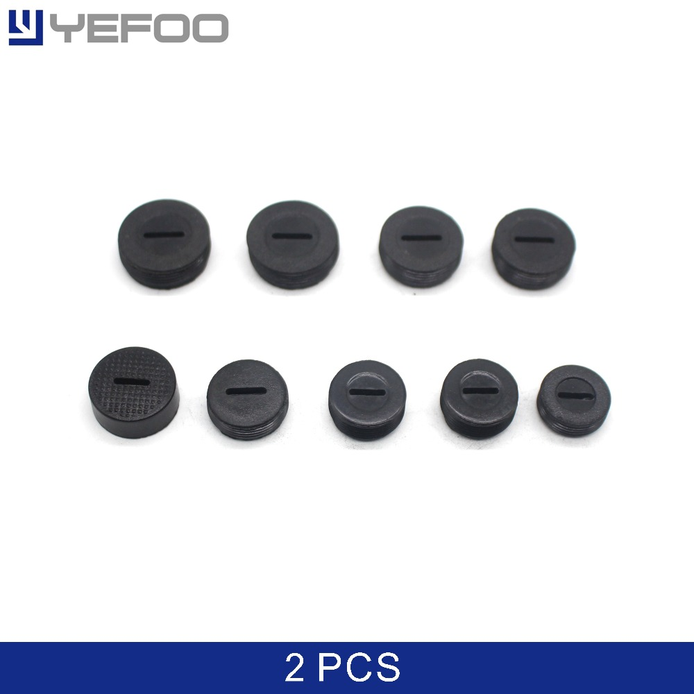 2Pcs 10/12/13/14/15/16/17/18/20/21/22mm/9523 Carbon Brush Cover Caps Black Screw Dia Holder for Motor рама на тонар 9523