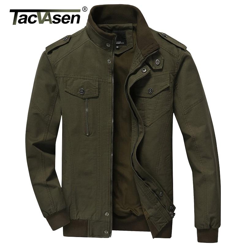 TACVASEN 2017 Men Army Soldier Jacket Air Force Military jacket Male Plus Size Casual jacket Coats Men's Autumn Coat TD-QZQQ-004