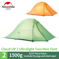 NatureHike tent 2 Person Ultralight camping Tent 20D Silicone Tent Double layer Aluminum Pole Camping Tent NH15T002 T