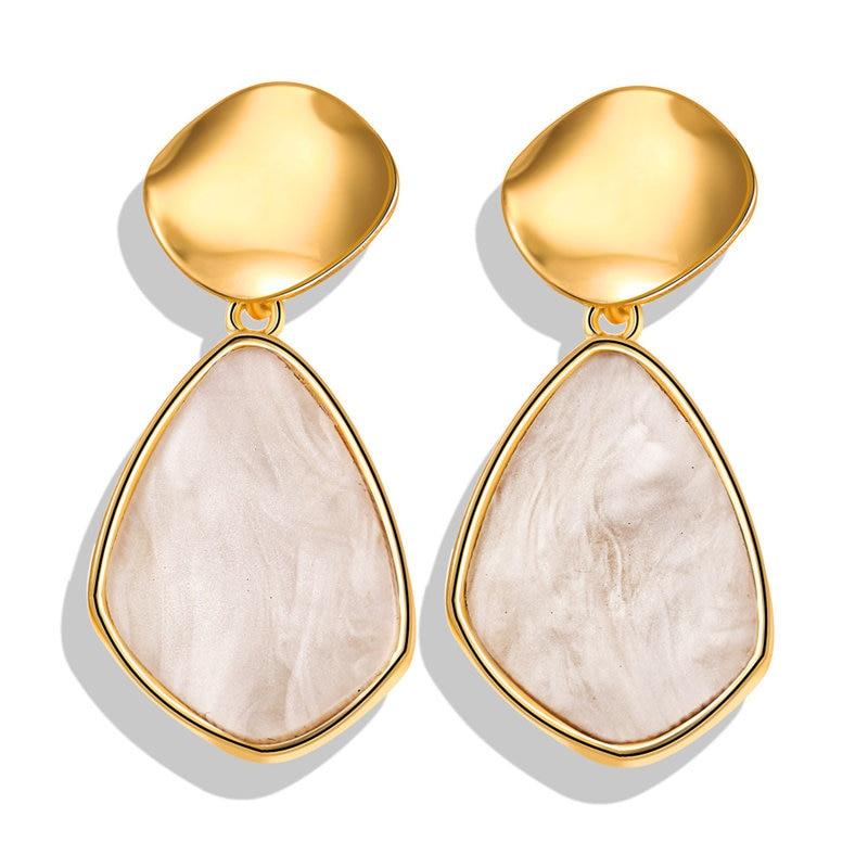 Vintage Earrings 2019 Geometric Shell Earrings For Women Girls BOHO Resin Drop Earrings Brincos Fashion Tortoise Jewelry 33