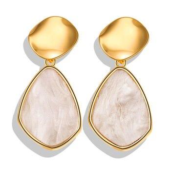 Geometric Shell Earrings For Women Earrings Jewelry Women Jewelry Metal Color: FCS1705A3