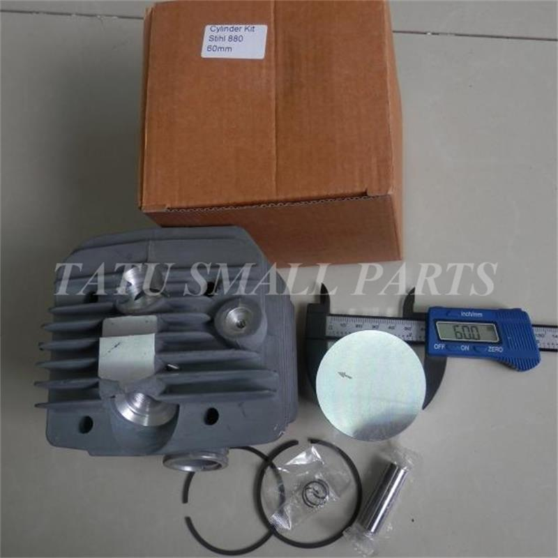 60mm CYLINDER KIT FOR ST. CHAINSAW 088 MS880 121.6CC 6.4KW  CHAIN SAW  ZYLINDER ASSY W/ PISTON RINGS SET PIN CLIPS ASSEMBLY manufacturers 5200 chainsaw cylinder assy cylinder kit 45 2mm parts for chain saw 1e45f on sale