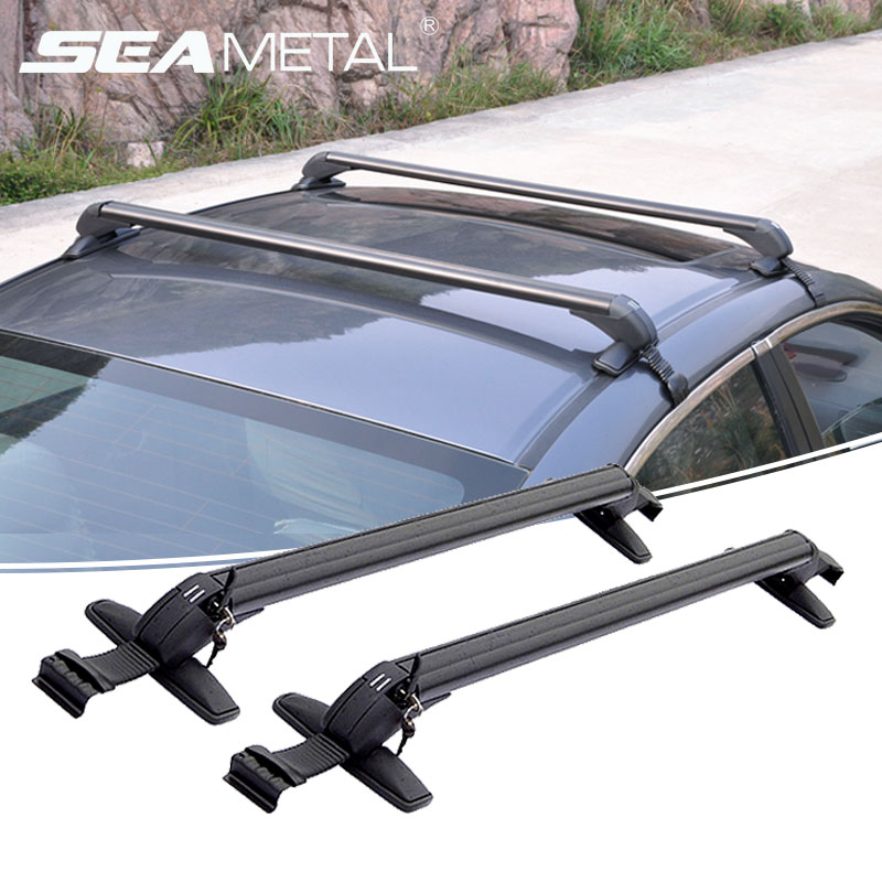Car Roof Racks Universal Luggage Rack Aluminum Alloy Rooftop Carrier Bars Travel Outdoor Storage Boxes Auto Exterior Accessories