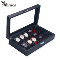 Top Grade Jewelry Box Casket Storage Box For Jewelry Exquisite Watch And Eyewear Dual Purpose Jewelry DIsplay Organizer